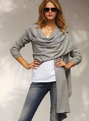 VS Cotton Cashmere Wrap Sweater!