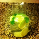 Water With Cucumber, Lemon and Mint!